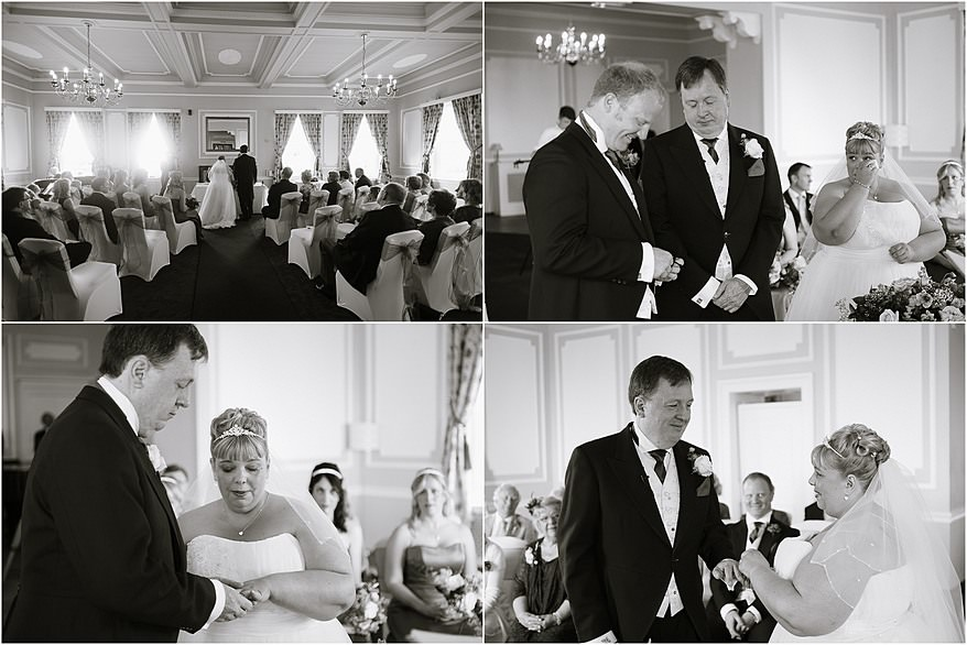 The exchanging of rooms at a wedding ceremony at Tregenna Castle