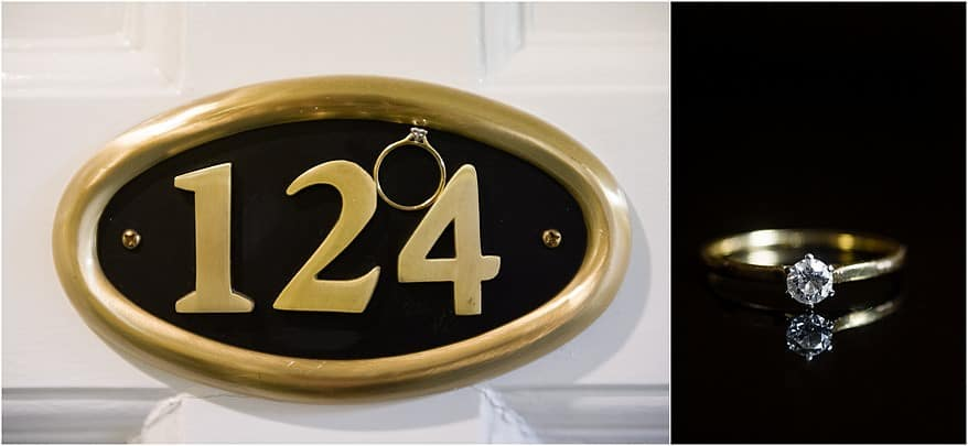 Ring photograph using the door number of Tregenna's hotel room