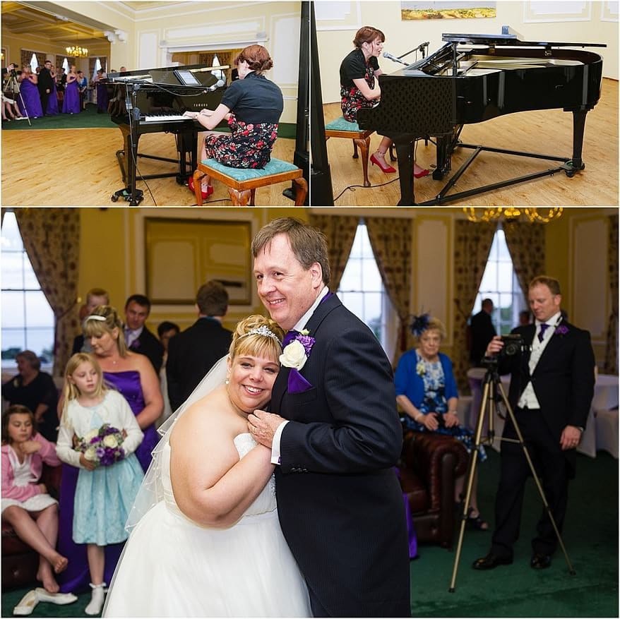 First Dance with a pianist in the Godrevy Room at a Tregenna Castle wedding