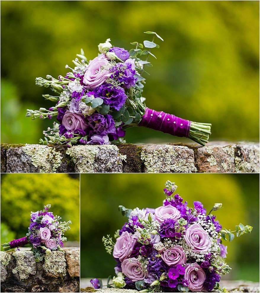 Wedding flowers at Tregenna Castle