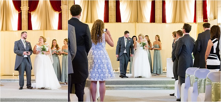 Happy bride and groom at Alverton Hotel Wedding