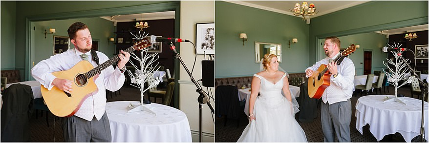 Guitar player at a Alverton Hotel Wedding