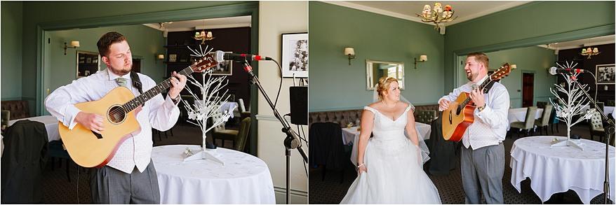 Guitar player at a Alverton Hotel Wedding