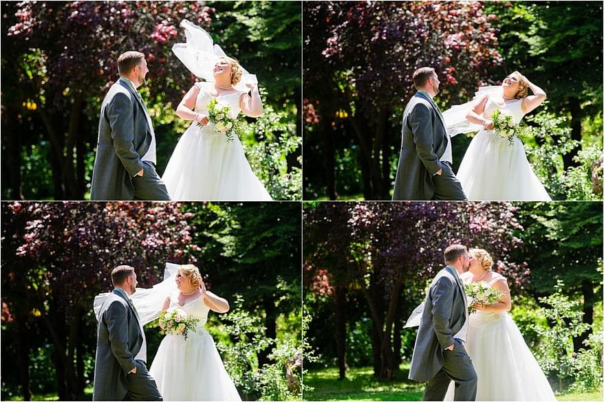 Bride and groom in the gardens at my latest Alverton Hotel Wedding