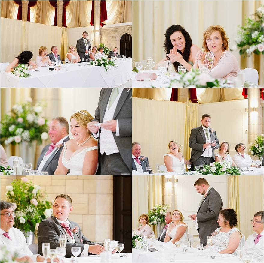 wedding speeches at the Alverton Hotel wedding