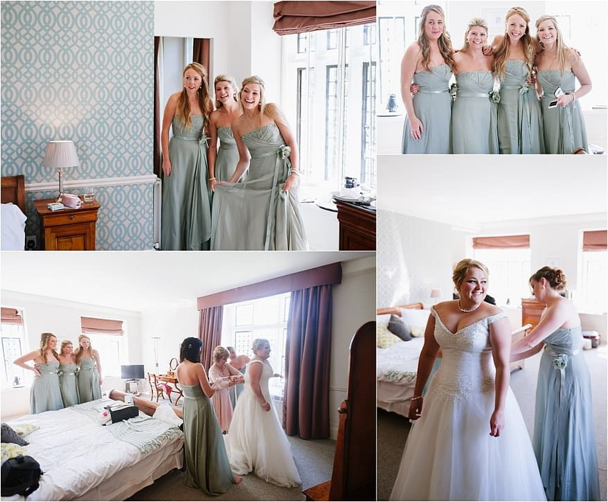 Bridal party in the Honeymoon suite at a Alverton Hotel Wedding