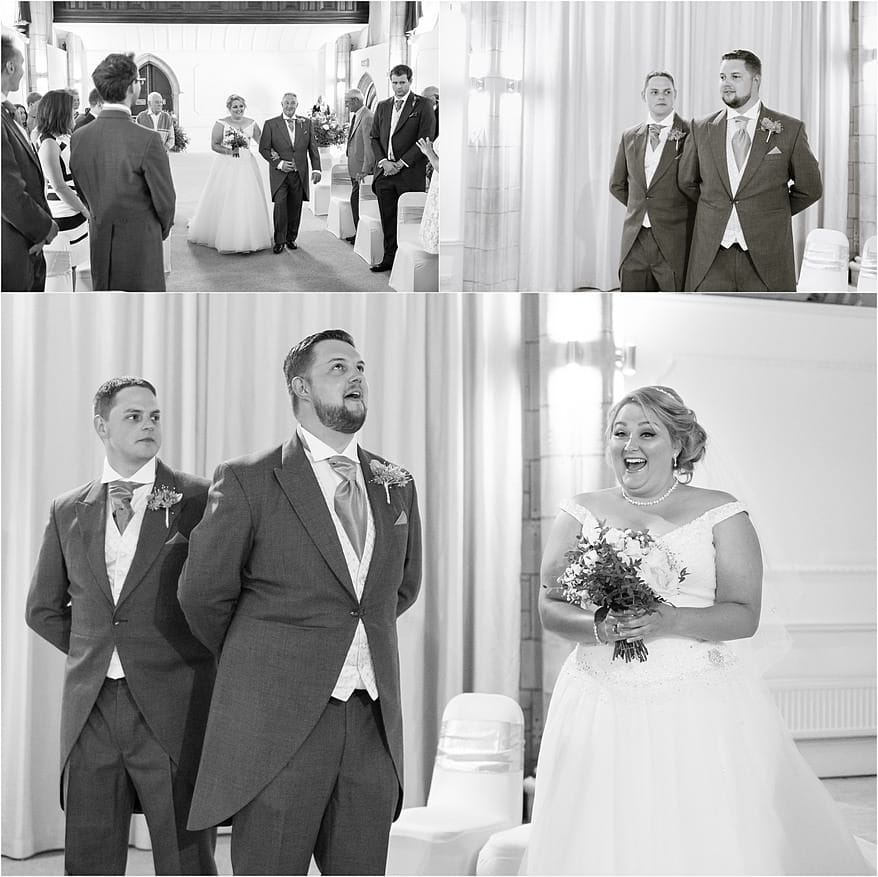 The Great Hall ceremony at a Alverton Hotel Wedding