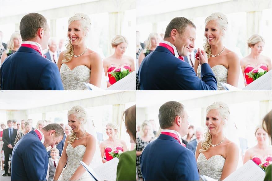 Wedding ceremony at a Trebah Garden wedding