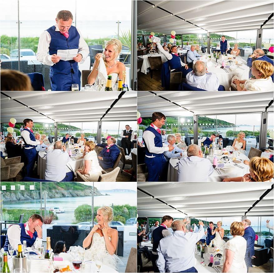Grooms Wedding speech at the Cove Restaurant wedding