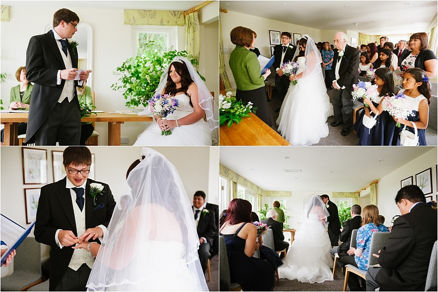 Wedding ceremony at a Trebah Gardens wedding