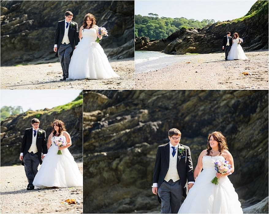 The bride and groom at my latest wedding at Trebah Gardens