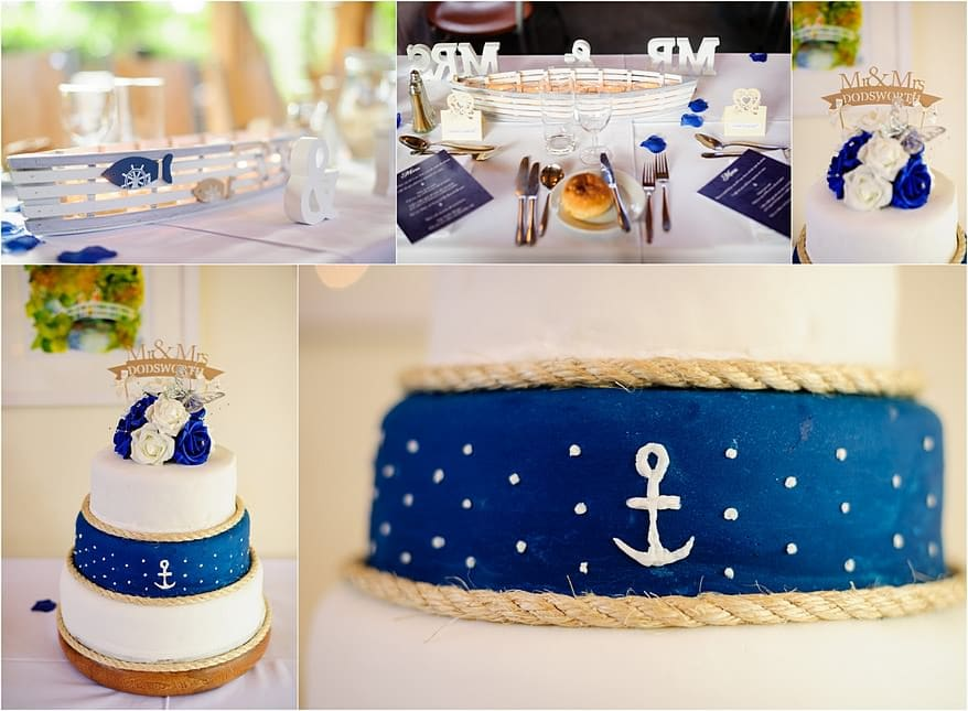 Knotical themed wedding cake at Trebah Gardens