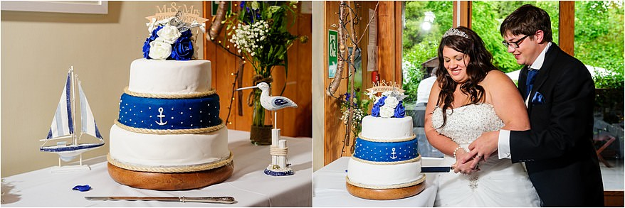 Cake cutting at Trebah Gardens in Falmouth