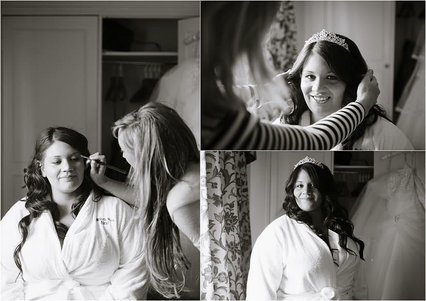Bridal preparation photographs at Budock Vean Hotel in Falmouth
