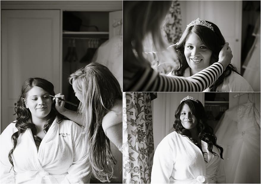Bridal preparation photographs at Budock Vean Hotel in Falmouth