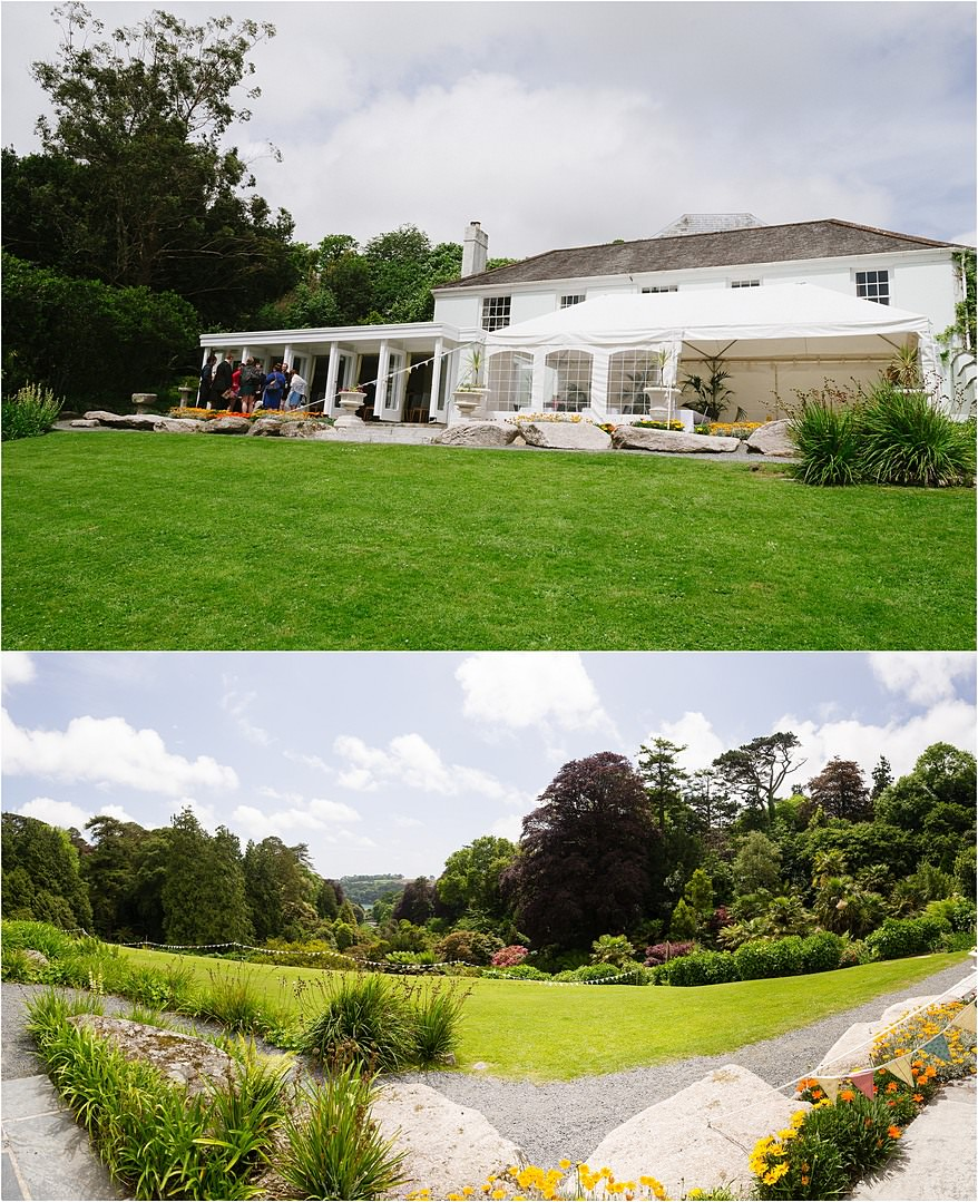 Views from The House for a wedding at Trebah Gardens