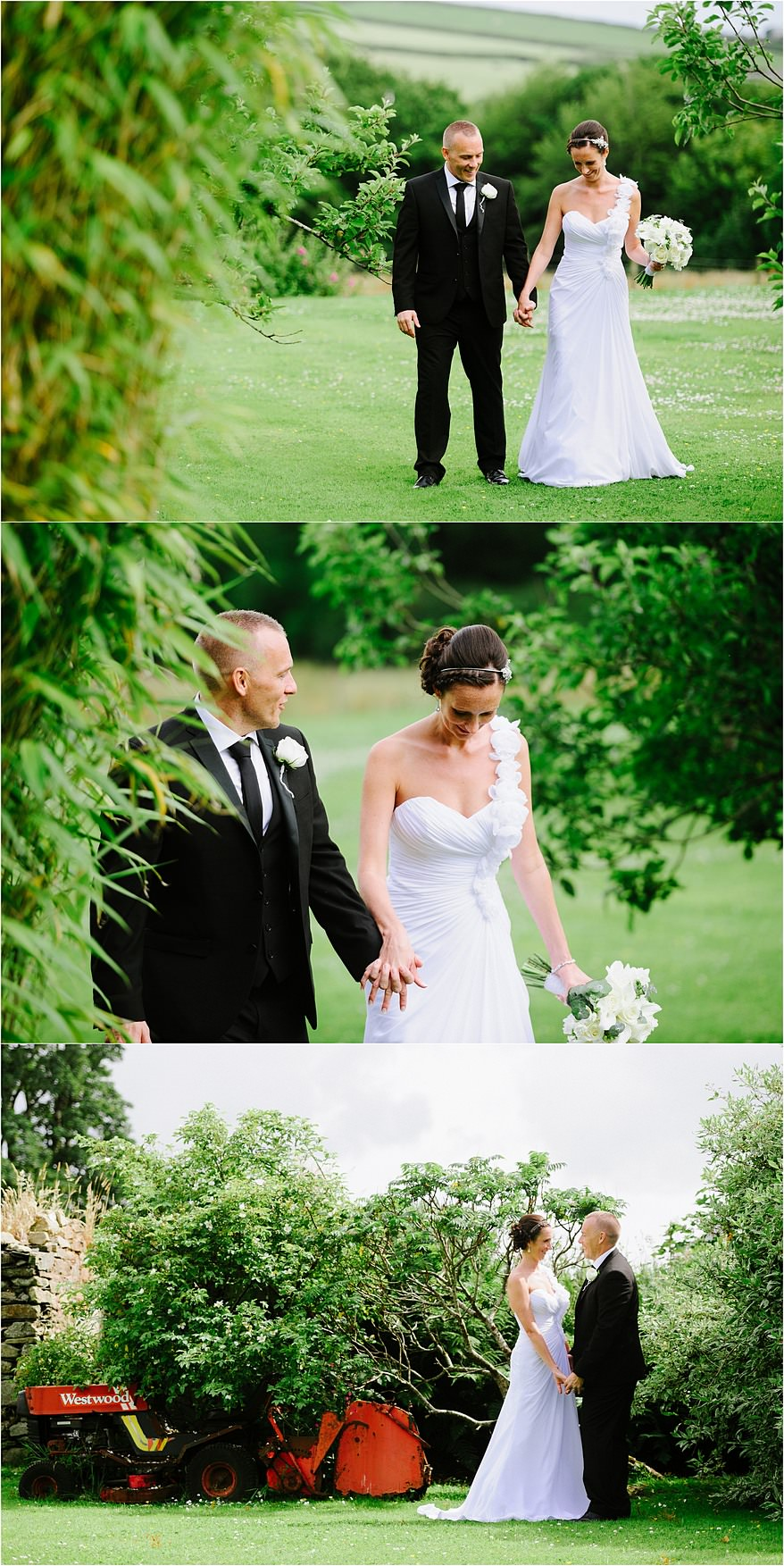 wedding photographs at barn weddings in Cornwall