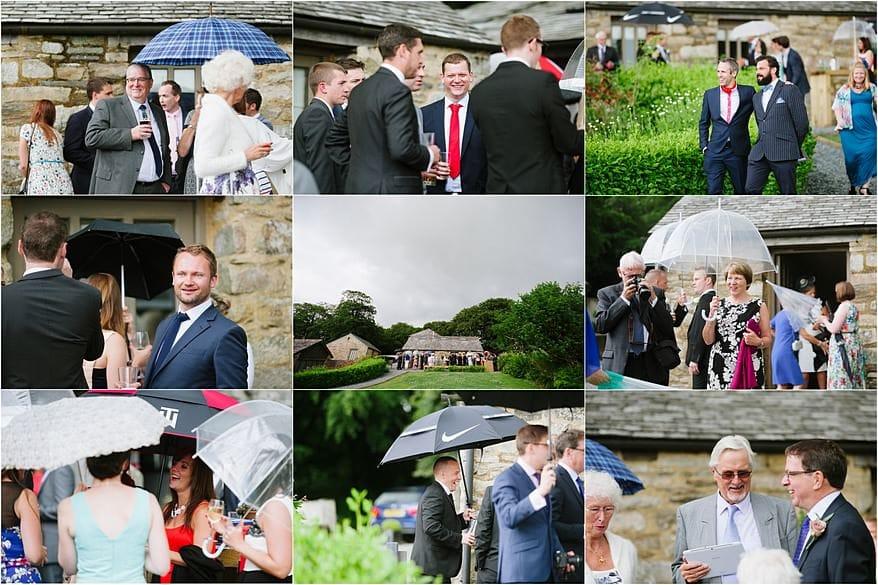 Weddings guests at a barn weddings in cornwall