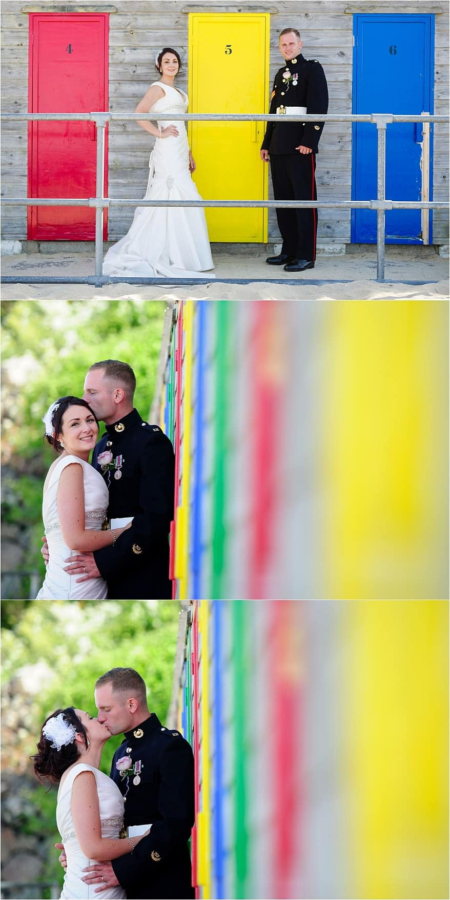 Beach Hut photographs at a St Ives Harbour Hotel Wedding