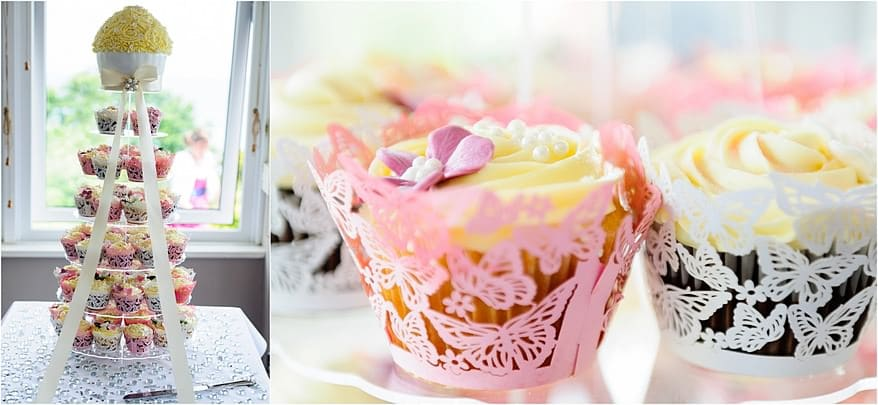 Giant Cup cake at the St Ives Harbour Hotel Wedding