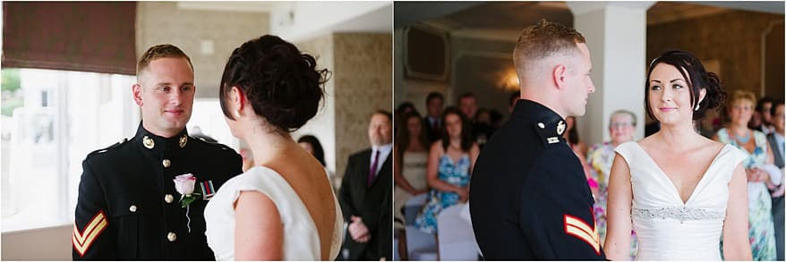 Beautiful ceremony at a St Ives Harbour Hotel wedding