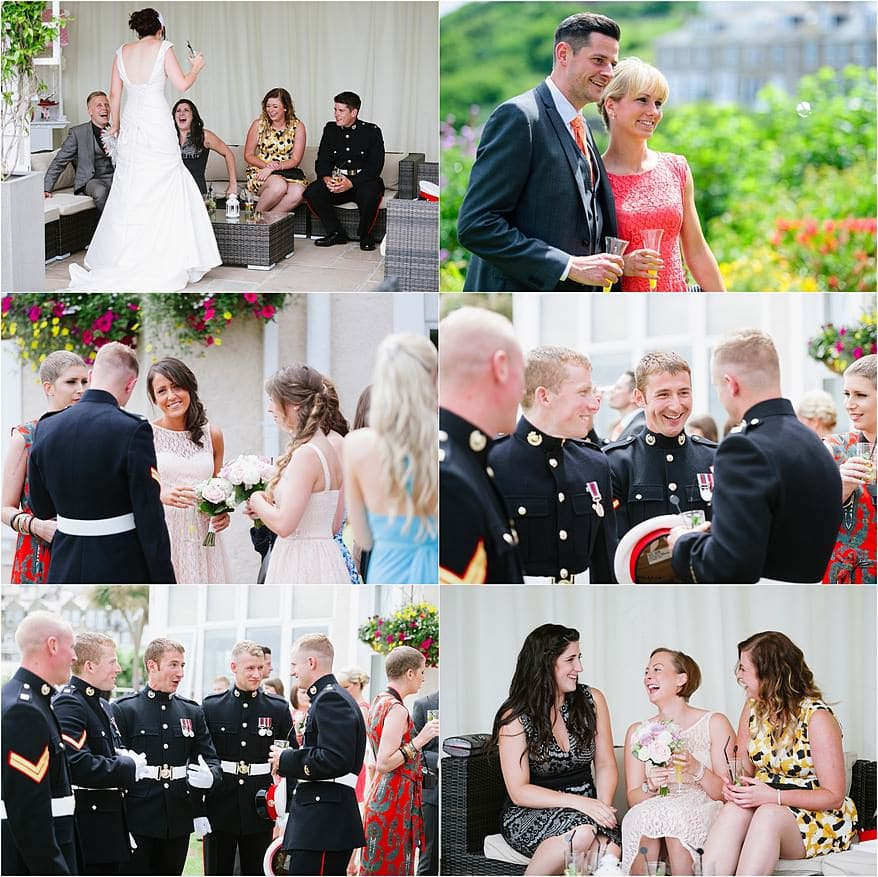 military wedding at the St Ives Harbour Hotel