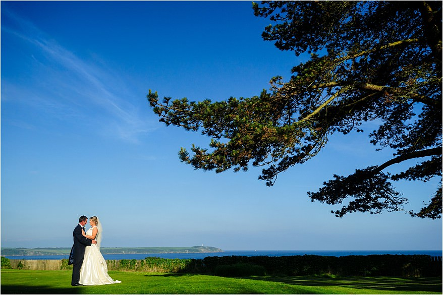 Bridal phtographs at a wedding at Carlyon Bay Hotel