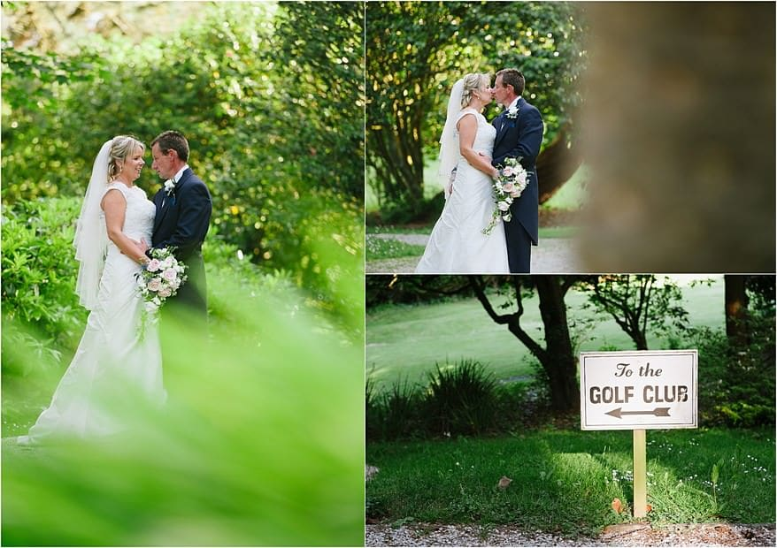 Wedding photographs at Carlyon bay hotel and golf club