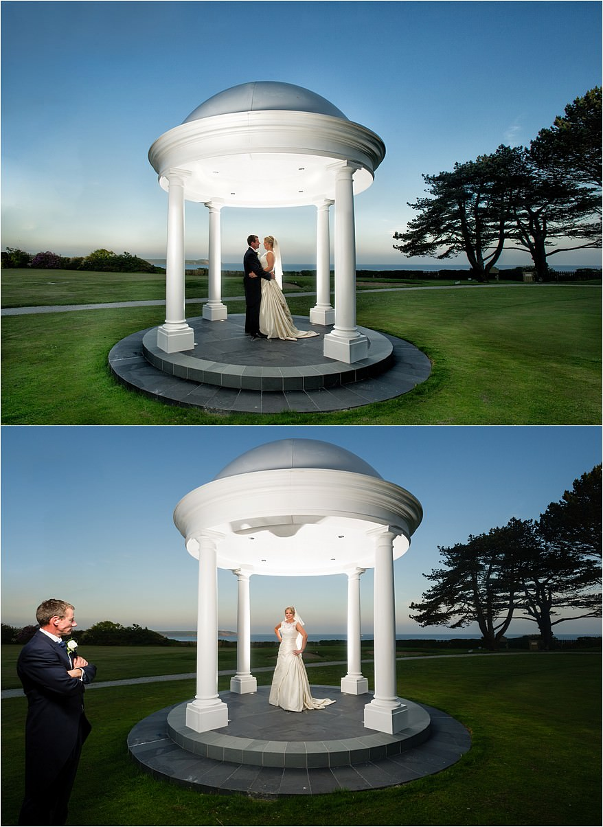 dramatic pavillion photograph for a wedding at Carlyon Bay Hotel