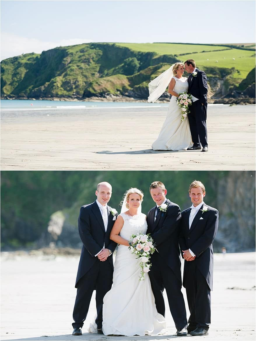 wedding photographs at Pothpean Beach