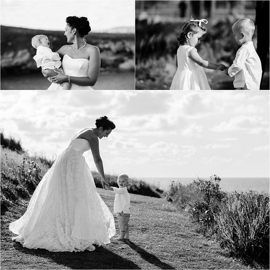 Bride with her son at the Glendorgal hotel