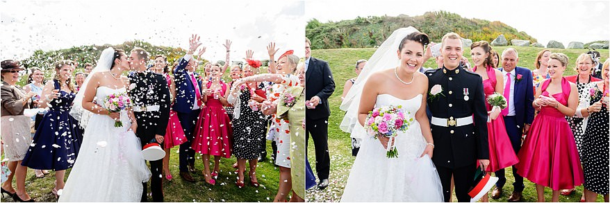 Glendorgal hotel wedding confetti photograph