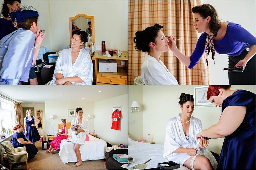 Madam Tashy doing wedding makeup and hair at Glendorgal hotel