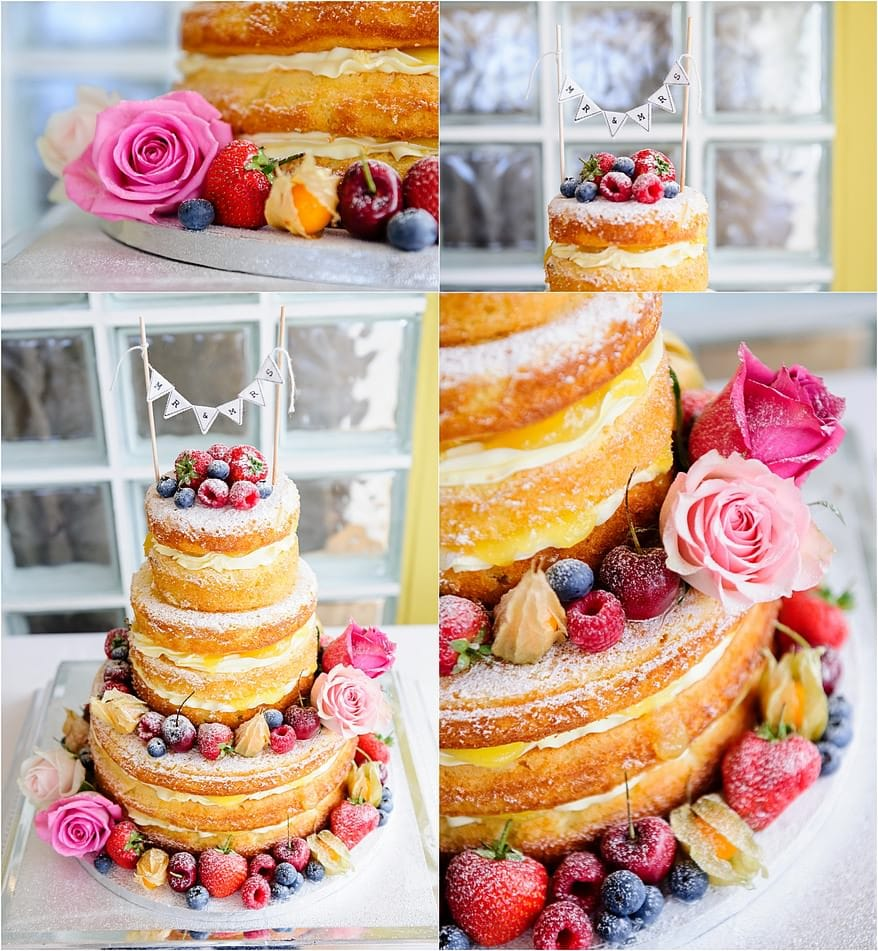 Naked cake at a Glendorgal hotel wedding