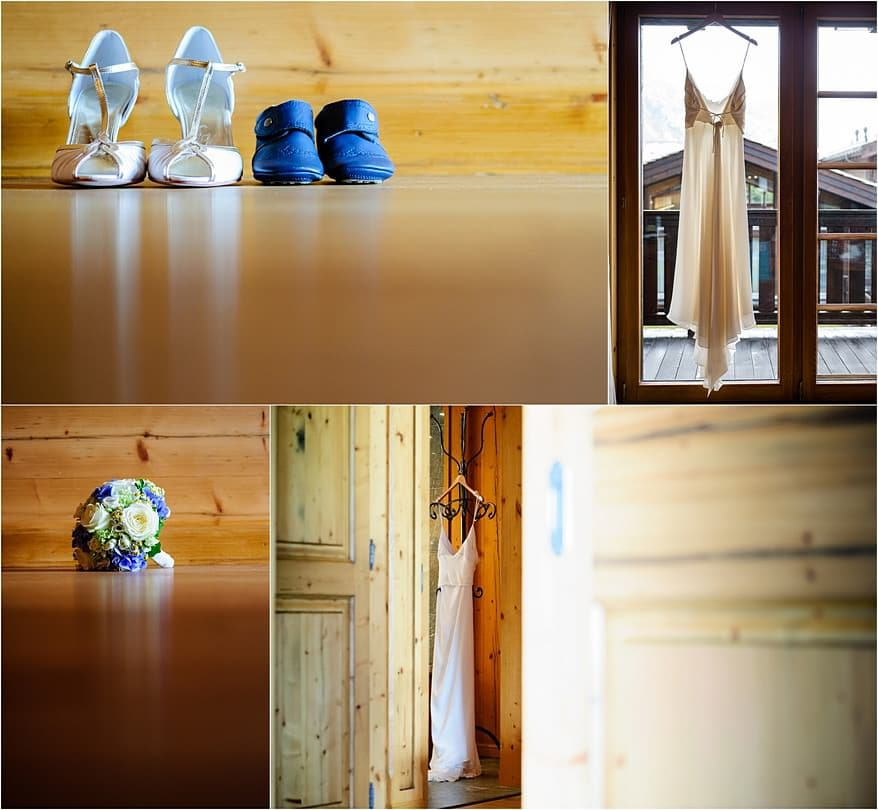 Wedding details at the Riffelalp Resort Hotel