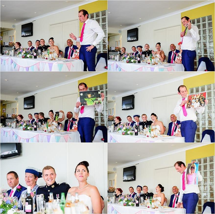 best man speeches at a Glendorgal hotel wedding