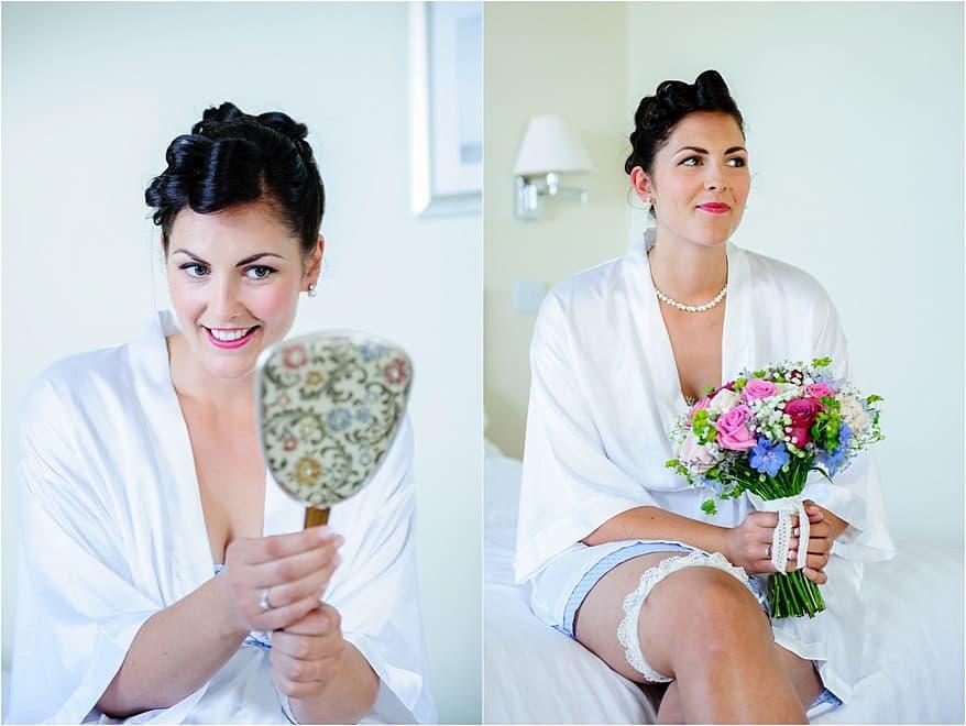 bridal makeup and hair done by Madam Tashy at the Glendorgal hotel