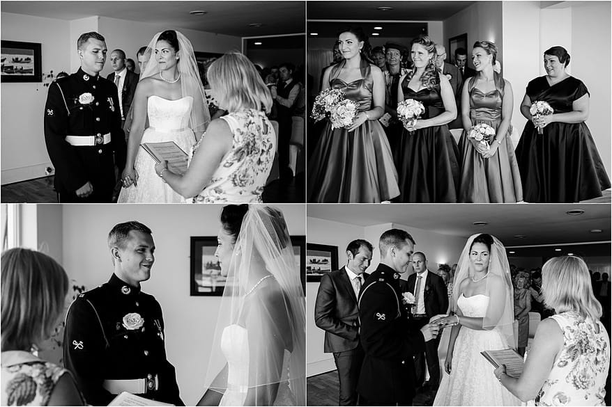bride & groom at their Glendorgal hotel wedding