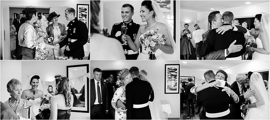 candid wedding photographs at the Glendorgal hotel