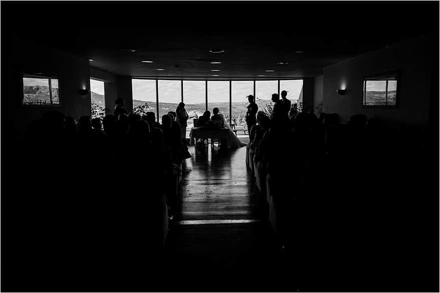 ceremony room at the Glendorgal hotel