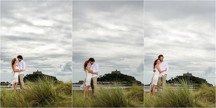 dramatic wedding photographs at St Michaels mount