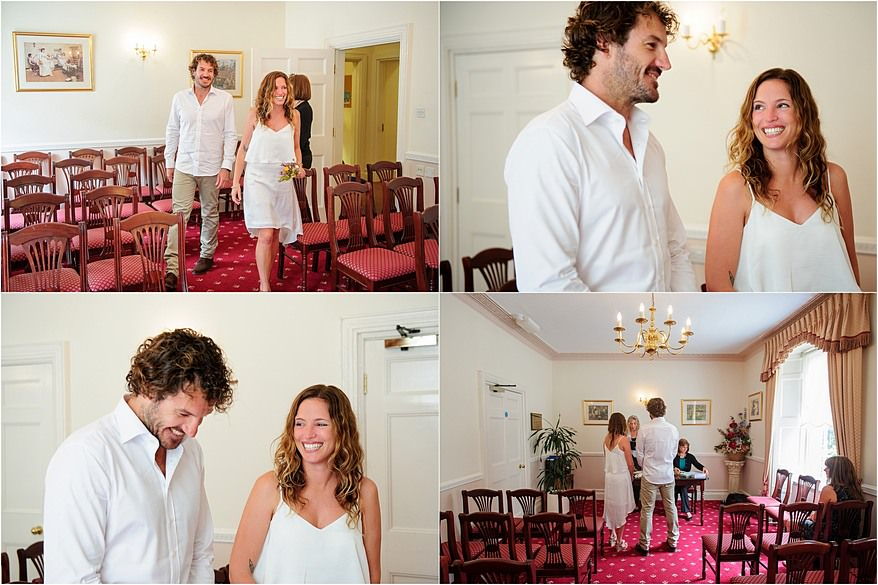 wedding couple getting married at penzance registry office
