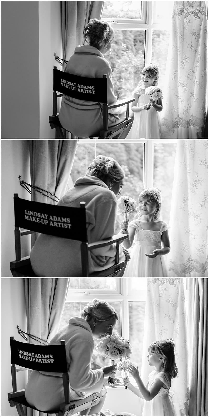 Bridal make up photographs at a Knightor vinery wedding