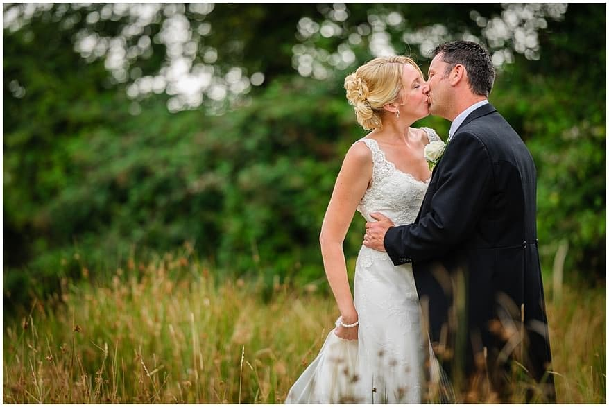 Bridal portraits at Knightor winery wedding venue