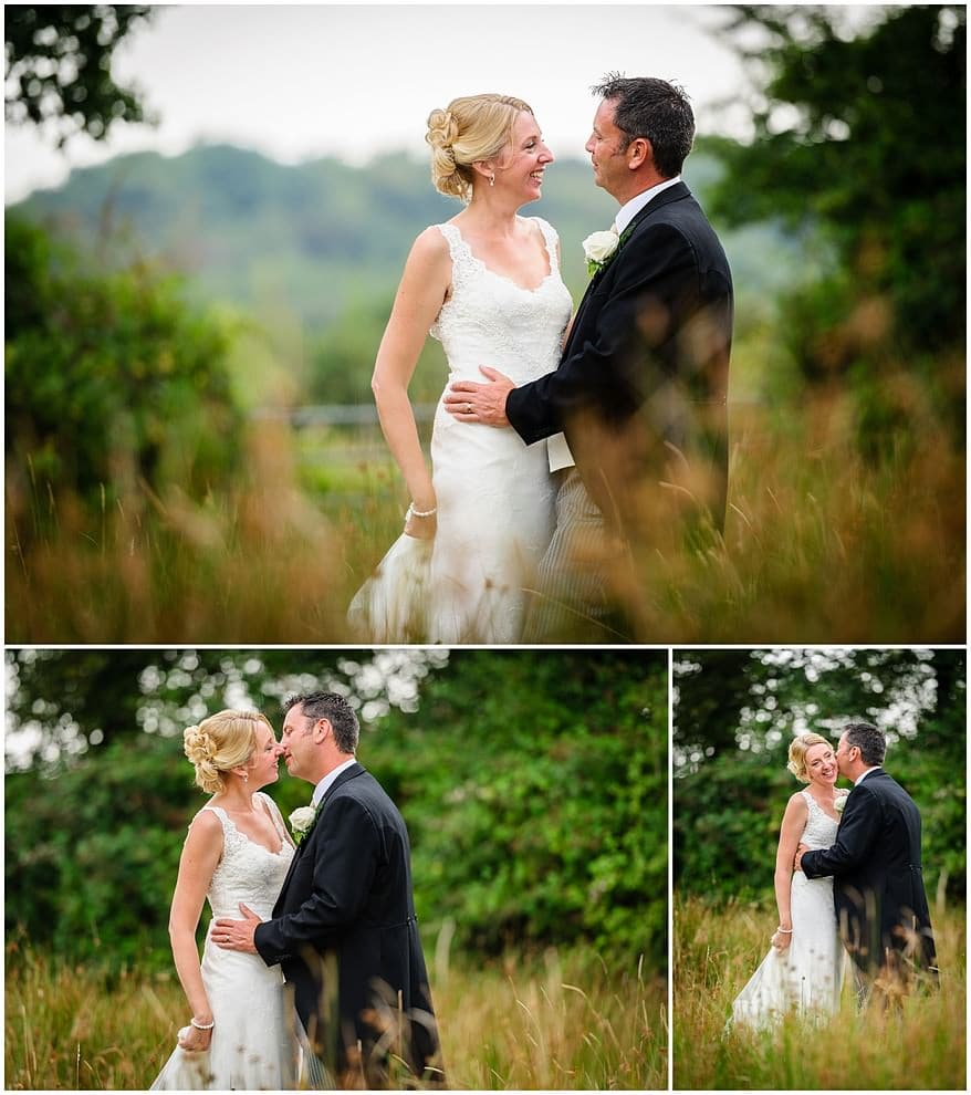 Bridal portraits at a Knightor vinery wedding