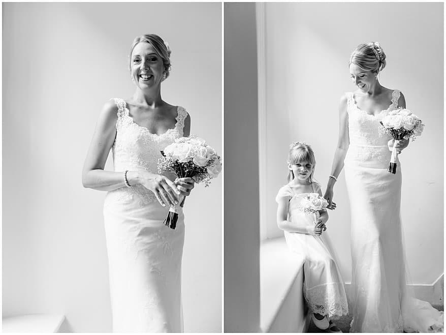 Bridal portraits at a wedding at Knightor vinery