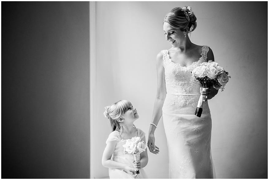 Bride and her daughter at a knightor vinery wedding