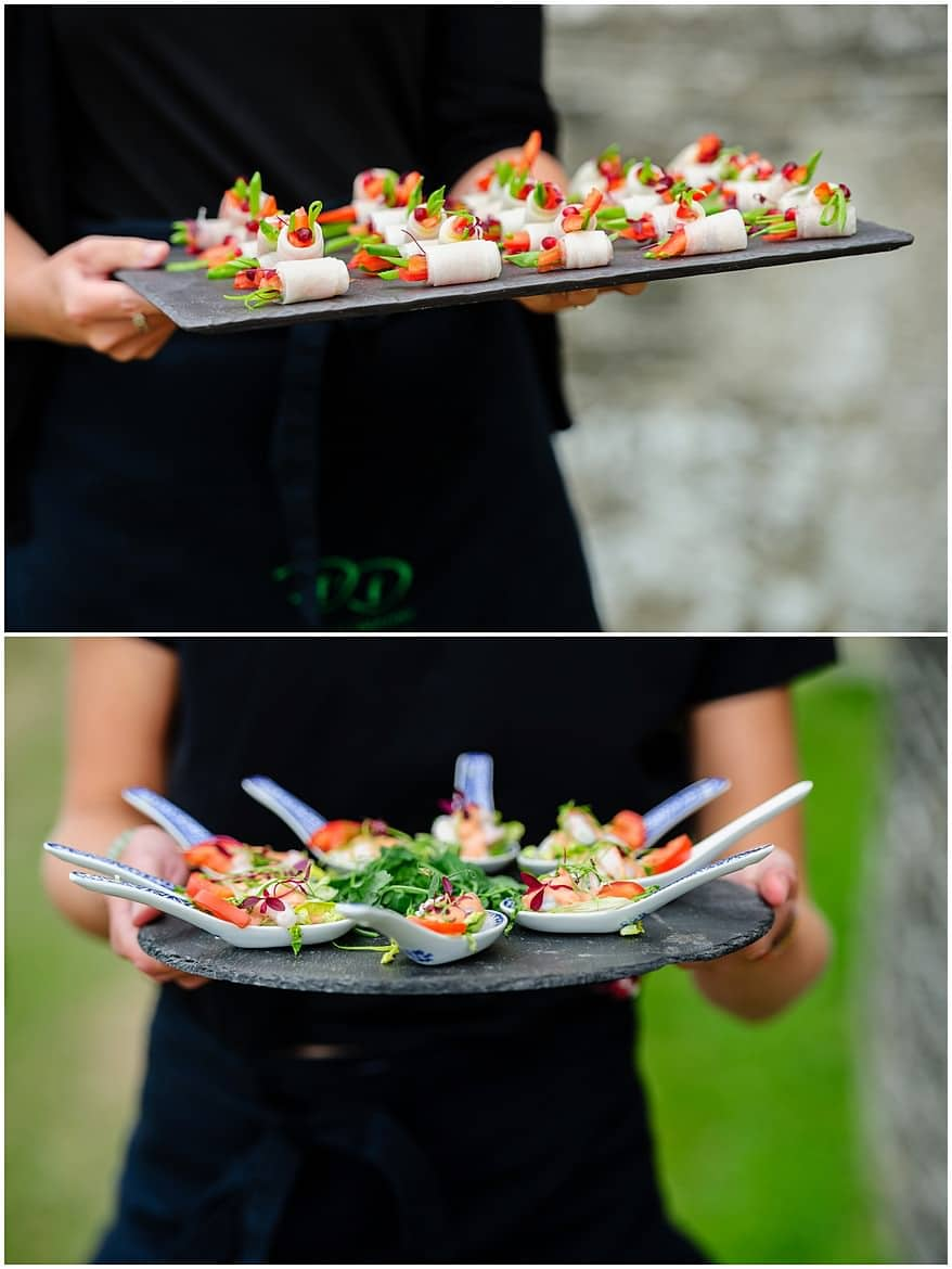 Downright Delicious wedding catering at a St Mawes Castle wedding