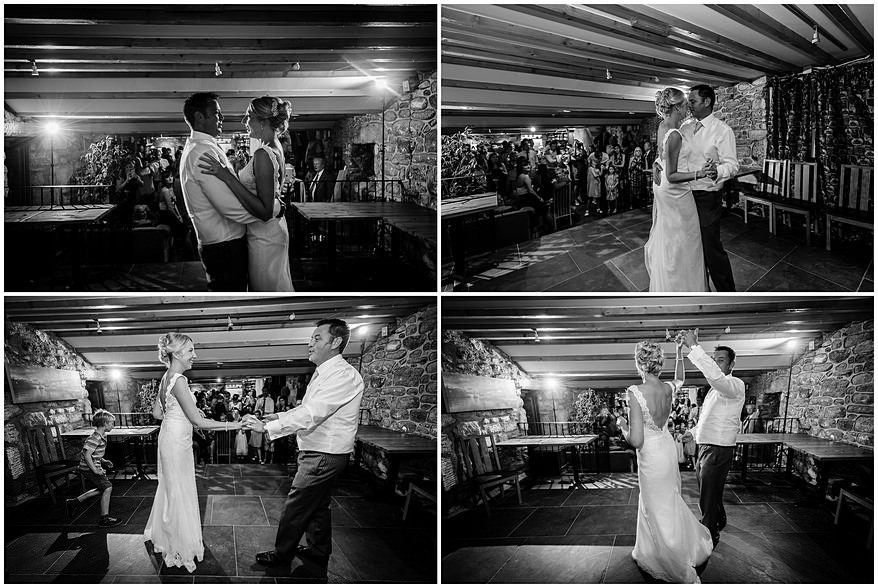 First dance wedding photographs at Knightor