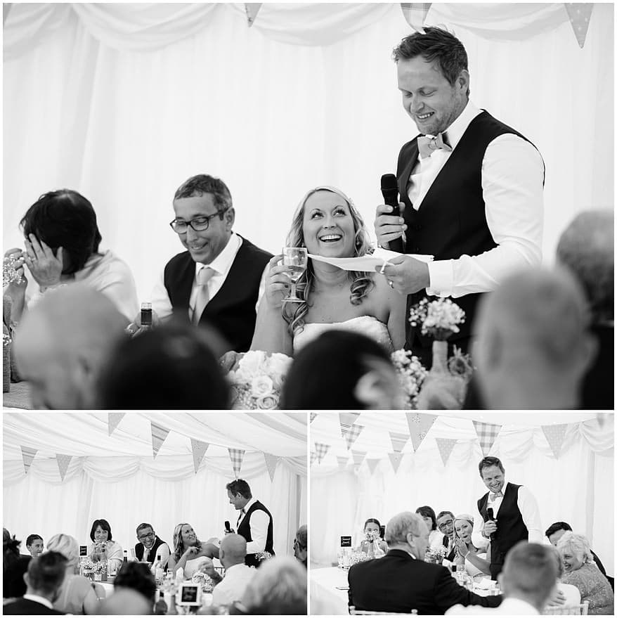 Grooms speeches at a St Mawes Castle wedding